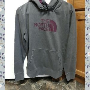 North Face Grey Hoodie Large